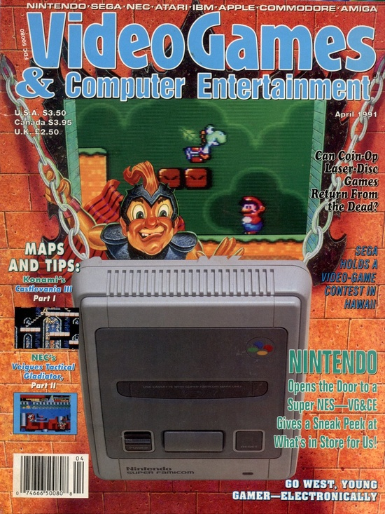 Retro Gaming / VideoGames & Computer Entertainment, April 1991 - #Nintendo #NES #Sega #SNES #Genesis #NEC #TG16 #Commodore #C64 #Amiga #IBM #Atari - http://www.megalextoria.com/magazines/index.php?twg_album=Video_Game_Magazines%2FVGCE%2Fvgce_91-04_show=vgce_1991-04_001.jpg