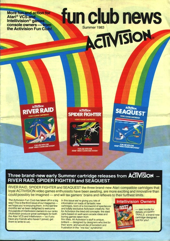 Activision Fun Club News, Summer 1983