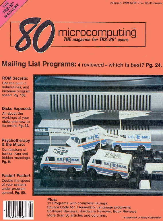 80 Microcomputing February 1980 Cover .