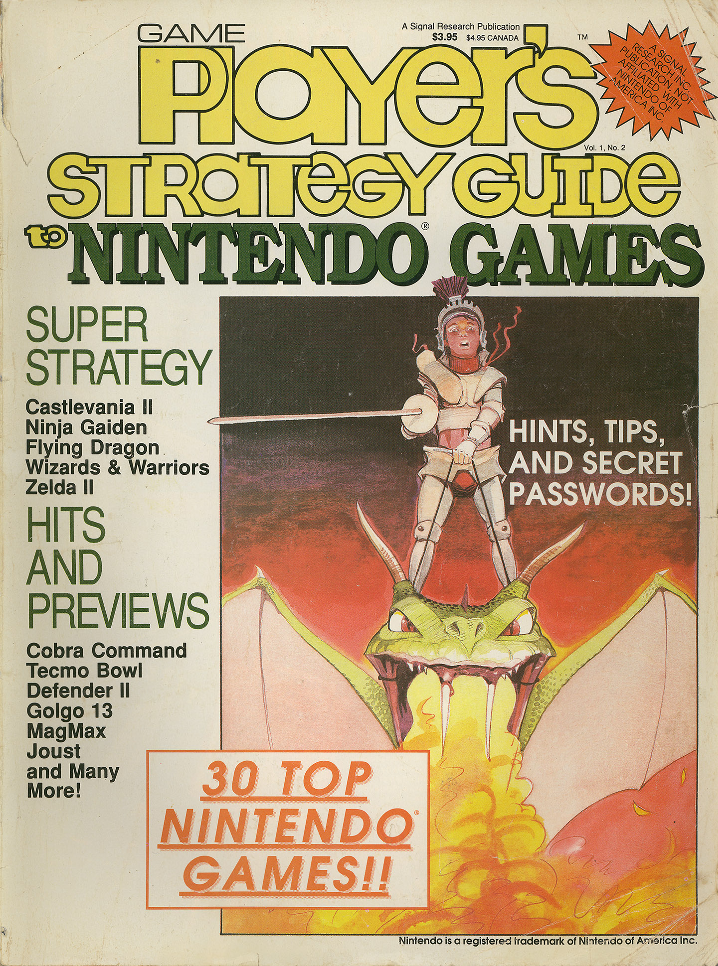 Game Player's Strategy Guide to Nintendo Games Issue 2 Cover A