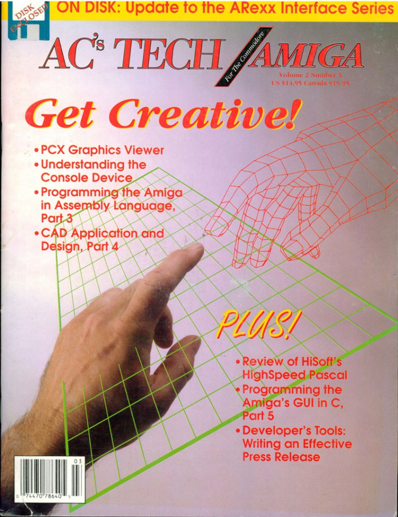 AC's Tech Amiga Volume 2, Number 5 August 1992 Cover .