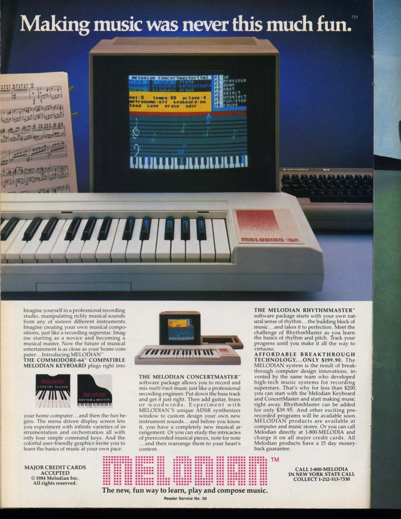 Ahoy! Issue Number 12 December 1984 Melodian (Commodore 64)