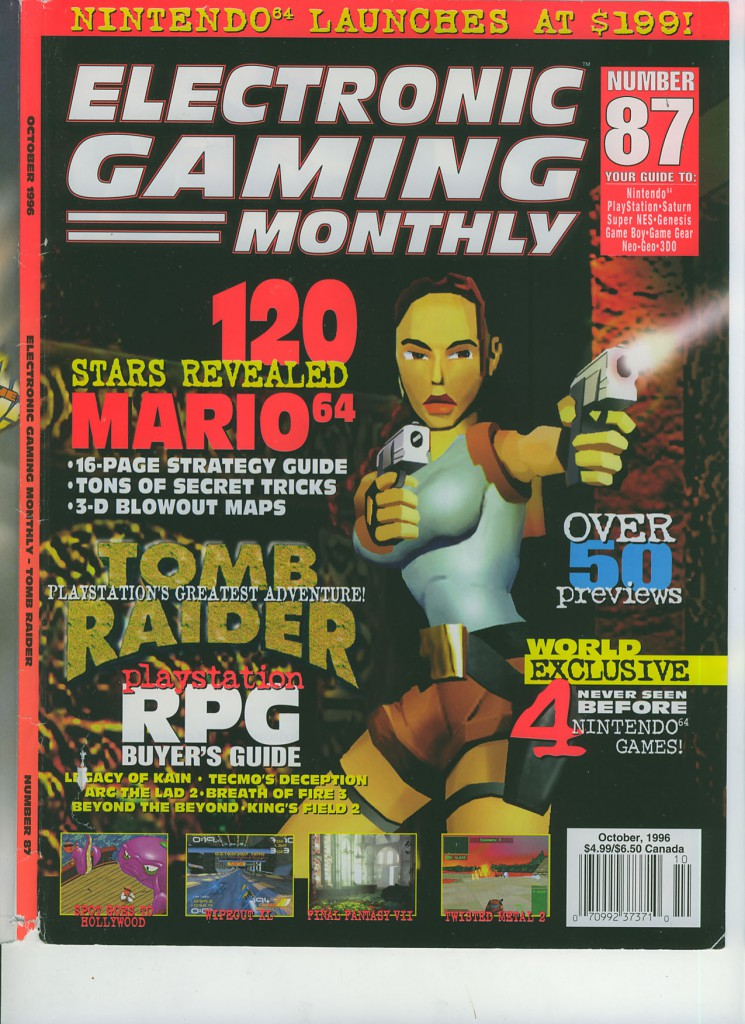 Electronic Gaming Monthly Issue Number 87 October 1996 Cover .