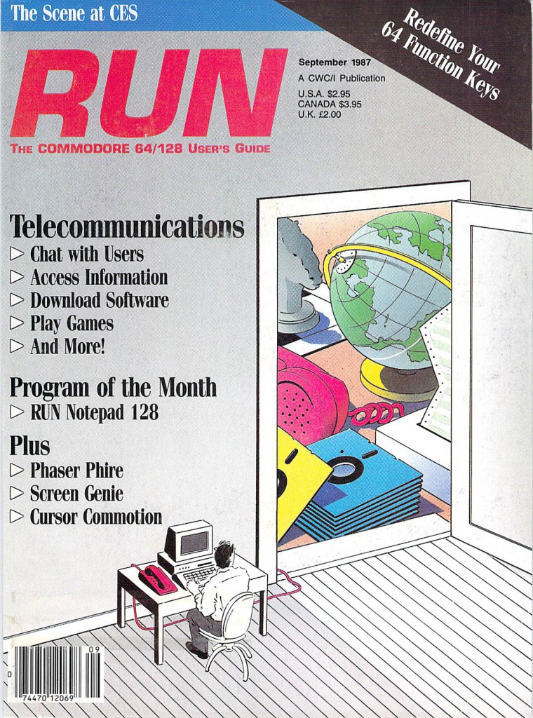 RUN The Commodore 64/128 User's Guide Issue Number 45 September 1987 Cover .