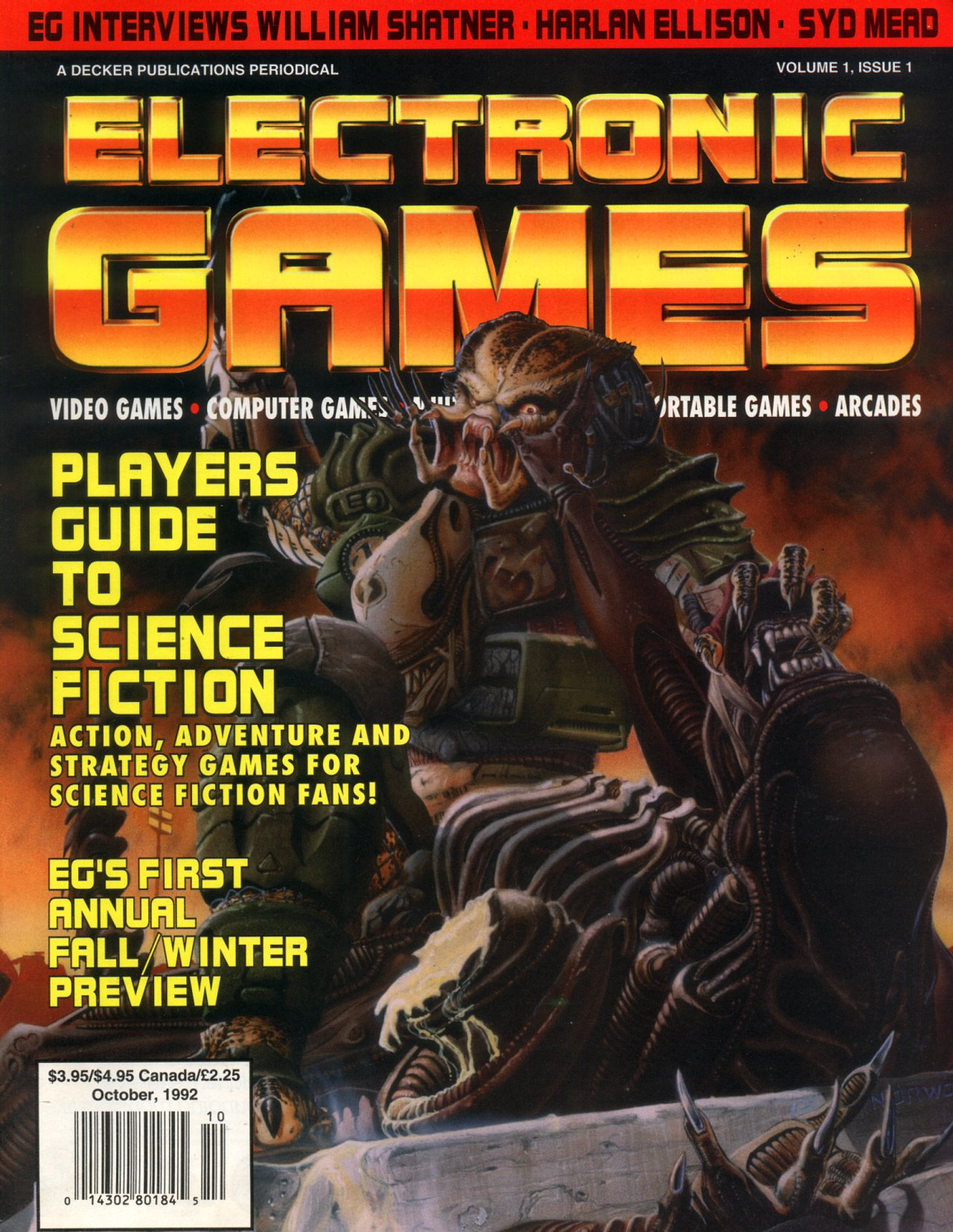 Electronic Games October 1992 Volume 1, Issue 1 Page 001 (Cover)
